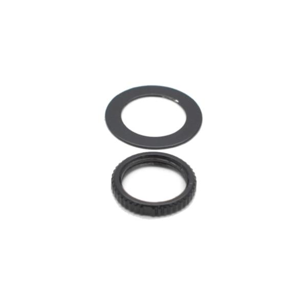 Black M12 Toggle Switch Knurled Nut & Washer Set