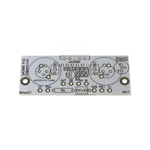 DIY LM3886 Amplifier PCB at Analog Classics
