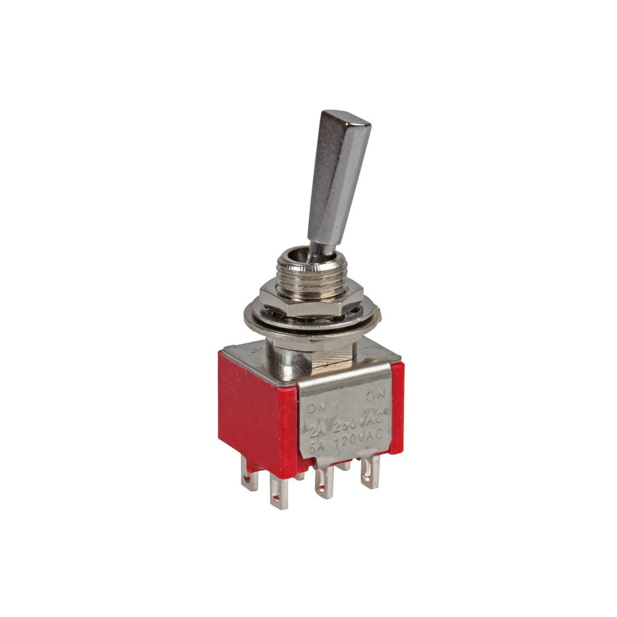 DPDT On-On-On Toggle Switch [Flat Bat]