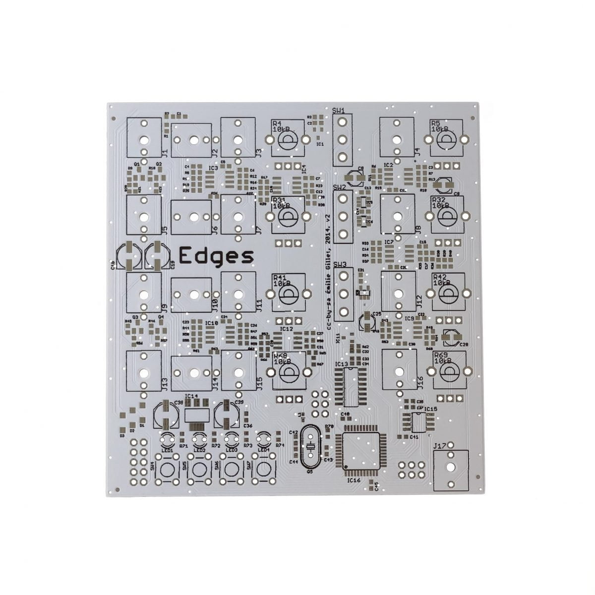 Mutated Edges PCB Front