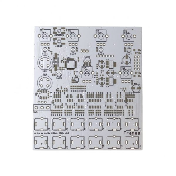 Mutated Frames PCB Front