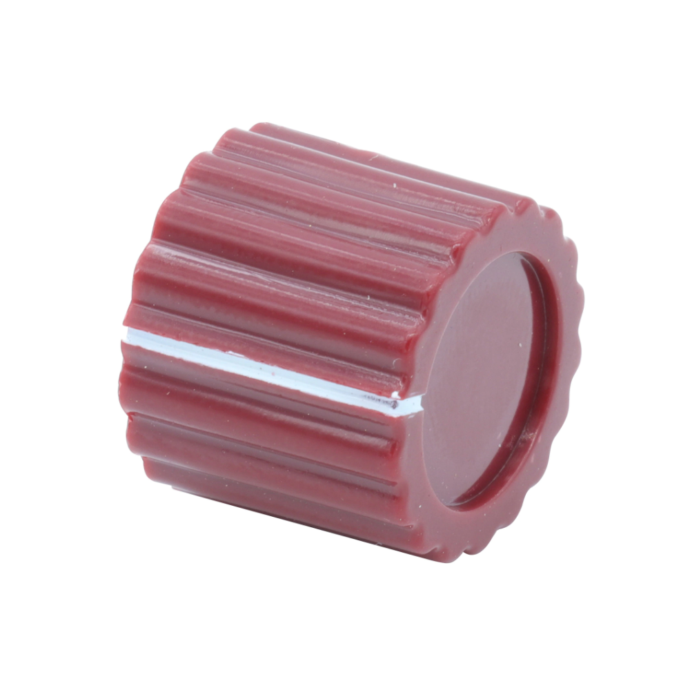 neve marconi knob fluted round dark red 2